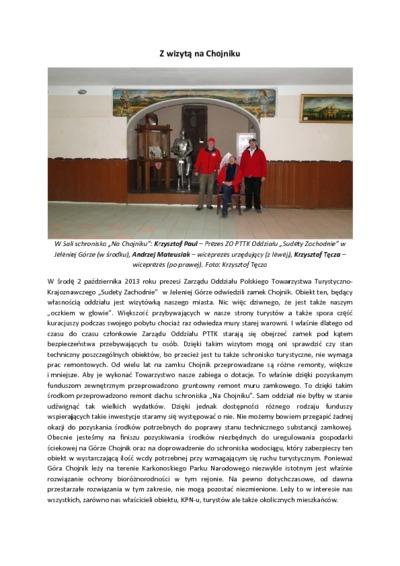 Z wizytą na Chojniku [Dokument elektroniczny]