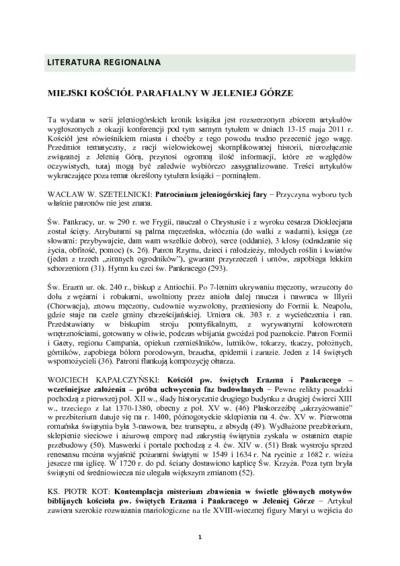 Miejski kościół parafialny w Jeleniej Górze [Dokument elektroniczny]