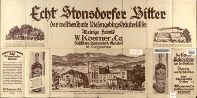 Das Iser- und Riesengebirge aus der Vogelschau.
