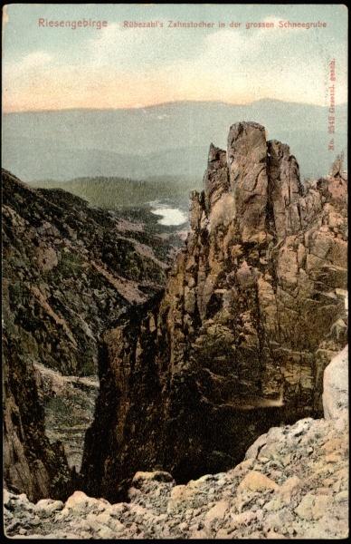 Riesengebirge Rübezahl's Zahnstocher in der grossen Schneegrube [Dokument ikonograficzny]