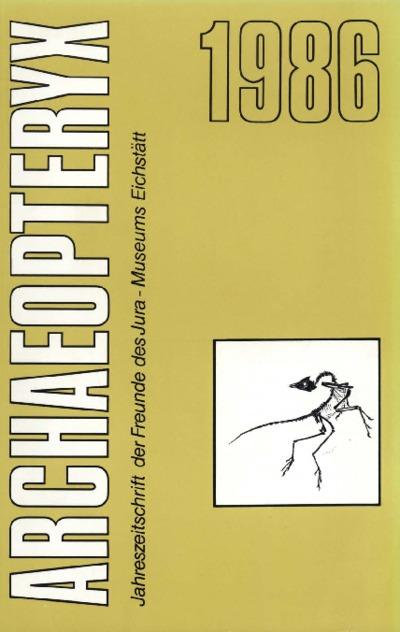 Archaeopteryx_1986_Herkunft von Kieselhölzern (Südliche Frankenalb)