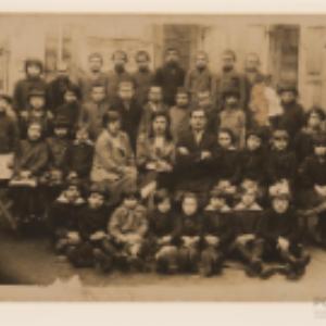 Grupa uczniów szkoły w Białymstoku