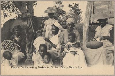 Peasant Family Making Baskets in St. Jan