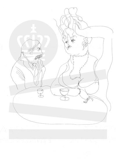 Mand og kvinde drikker vin