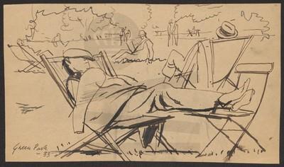 Sovende mand i Green Park