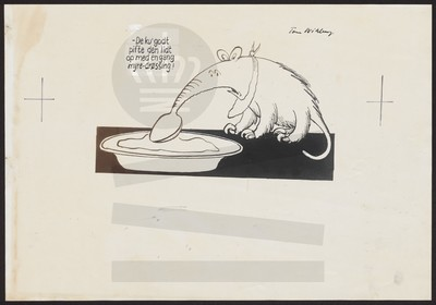 Myresluger spiser fra tallerken