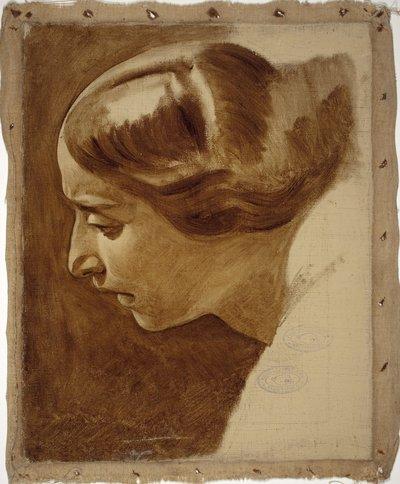 Porträtt av en kvinna (Edla Blommér?) ; ofärdig