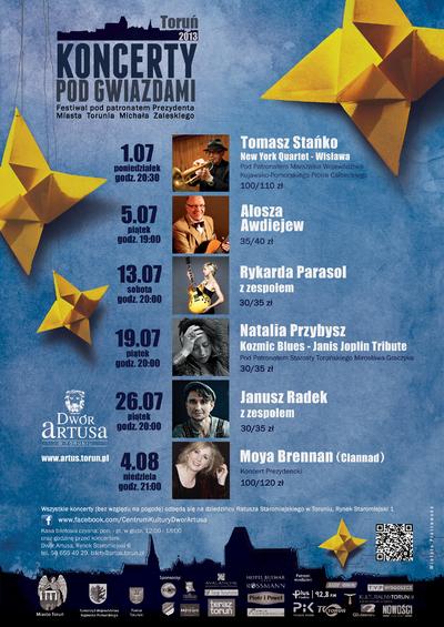 Koncerty pod Gwiazdami : Toruń 2013 : Festiwal : 1.07-4.08