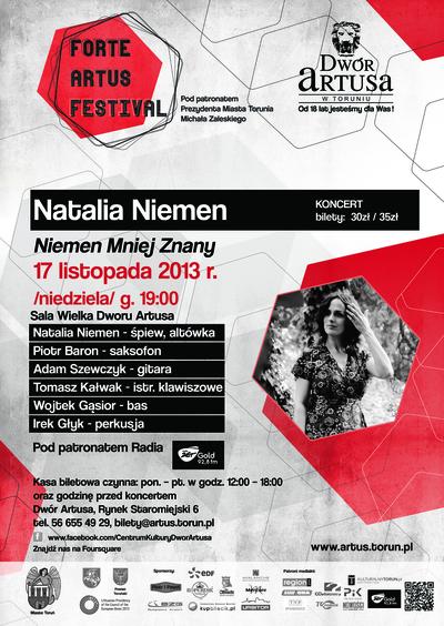 Forte Artus Festival : Natalia Niemen : 17 listopada 2013