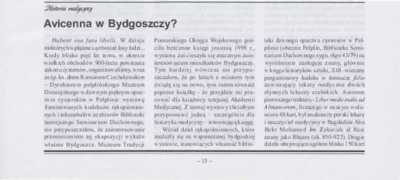 Avicenna w Bydgoszczy?
