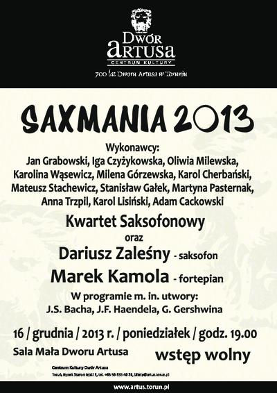 Saxmania 2013 : 16 grudnia 2013