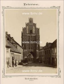 Teterow, Rostocker Tor (Außenseite)
