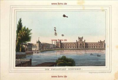 Schwerin, Paulsstadt (Pfaffenteich mit Arsenal)