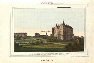Güstrow, Schloss im Jahre 1842