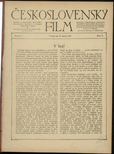 Československý film 11/1920