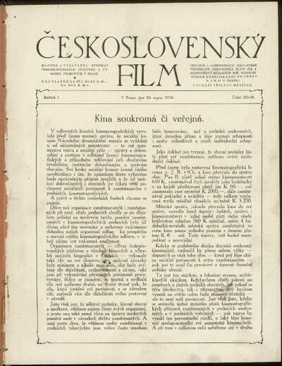Československý film 20-21/1919
