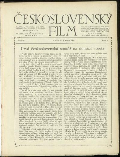 Československý film 8/1920