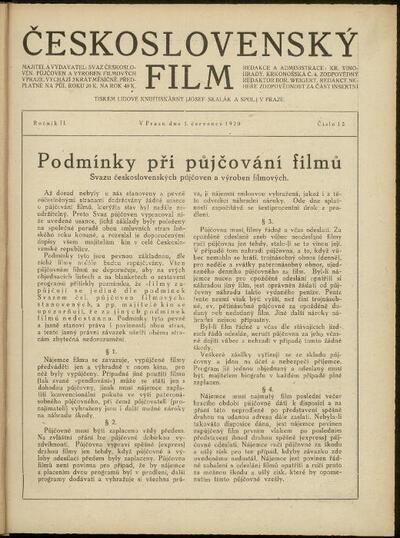 Československý film 12/1920