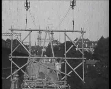 Bau der Lorrainebrücke