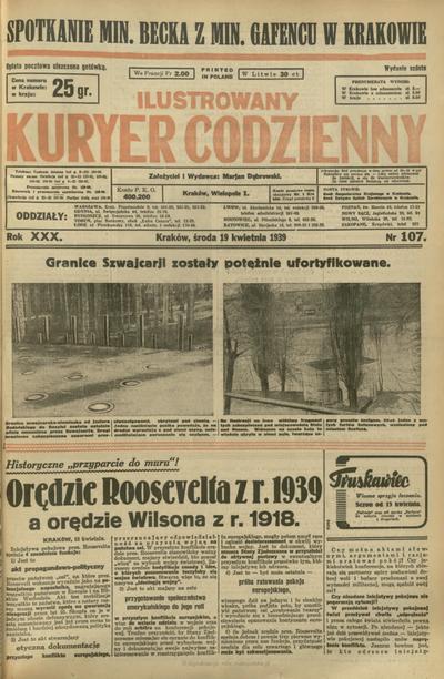 Ilustrowany Kuryer Codzienny. 1939, nr 107 (19 IV)