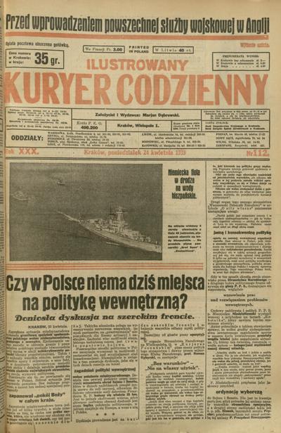 Ilustrowany Kuryer Codzienny. 1939, nr 112 (24 IV)