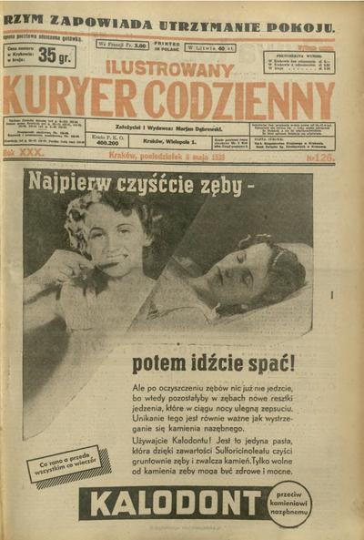 Ilustrowany Kuryer Codzienny. 1939, nr 126 (8 V)