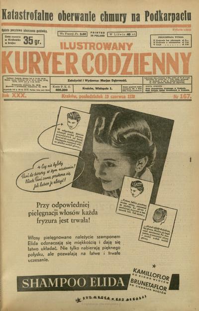 Ilustrowany Kuryer Codzienny. 1939, nr 167 (19 VI)