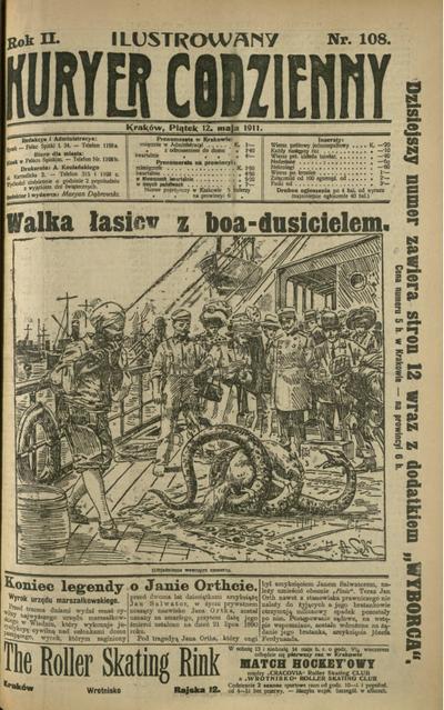 Ilustrowany Kuryer Codzienny. 1911, nr 108 (12 V)