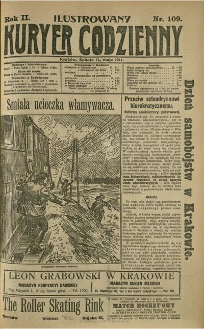 Ilustrowany Kuryer Codzienny. 1911, nr 109 (13 V)