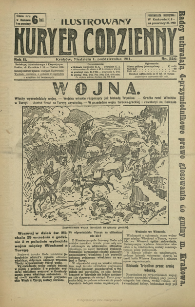 Ilustrowany Kuryer Codzienny. 1911, nr 224 (1 X)