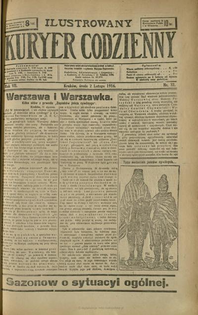 Ilustrowany Kuryer Codzienny. 1916, nr 32 (2 II)