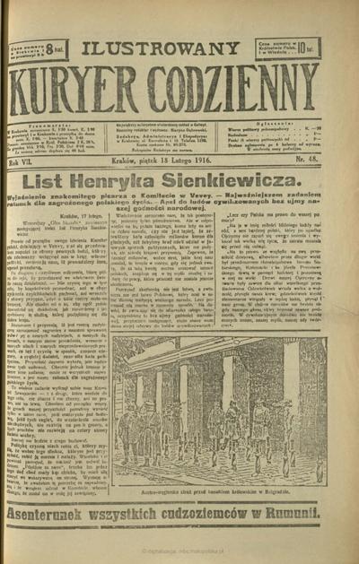 Ilustrowany Kuryer Codzienny. 1916, nr 48 (18 II)