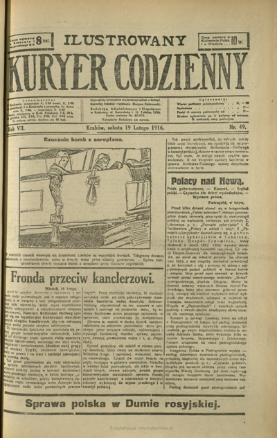 Ilustrowany Kuryer Codzienny. 1916, nr 49 (19 II)