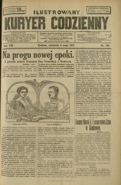 Ilustrowany Kuryer Codzienny. 1917, nr 124 (6 V)