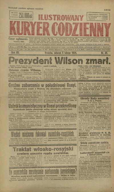 Ilustrowany Kuryer Codzienny. 1924, nr 35 (5 II)