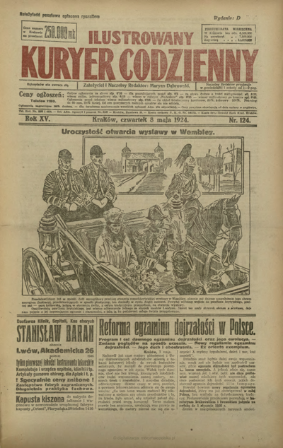 Ilustrowany Kuryer Codzienny. 1924, nr 124 (8 V)