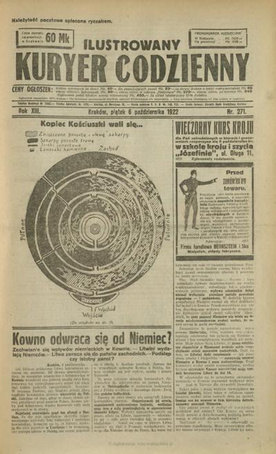 Ilustrowany Kuryer Codzienny. 1922, nr 271 (6 X)