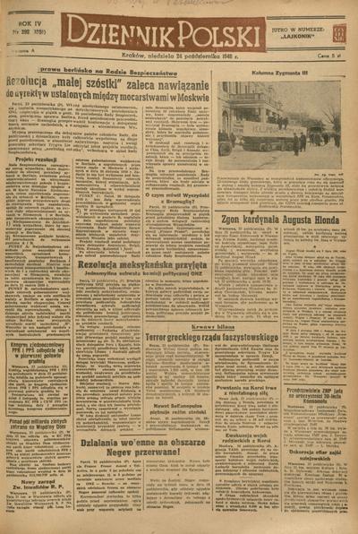Dziennik Polski. 1948, nr 292 (24 X) = nr 1331