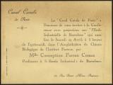 III Congrès International d'Enseignement Ménager (Paris): Invitació a l'acte