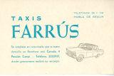 Targeta de Taxis Farrús de La Pobla de Segur