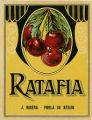 Etiqueta de licor de ratafia, J.Ribera de La Pobla de Segur.
