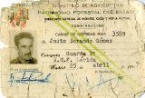 Carnet de guarda forestal de l'Estat, de Justo Sorando Gómez.