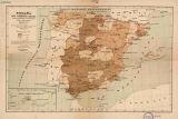 España : mapa demográfico-sanitario de sus provincias en la Península é islas adyacentes : resumen comparativo de defunciones ocurridas durant el 2º semestre de 1881
