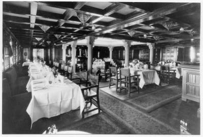 Vapor MAGALLANES , de la Cia Trasatlantica , menjador de primera classe