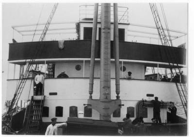 Vapor SAN CARLOS , de la Cia Trasatlantica , pont de comandament