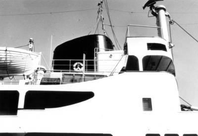 Motonau BENIZAR , de la Cia Trasatlantica , xemenia i pont