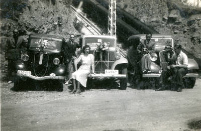 Guarniment dels  taxis Farrús pel Sant Cristòfol de 1941 a La Pobla de Segur.