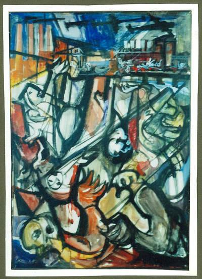 Fotografia de pintura titulada Holocaust de Sant Adrià