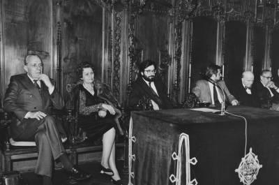 Acte de cloenda de la XXVIII edició del Concurs Maria Canals, al Saló de Cent de l'Ajuntament de Barcelona