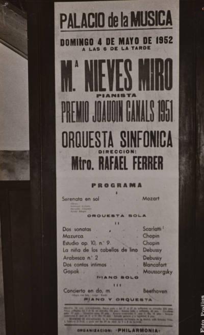 Actuació de Neus Miró al Palau de la Música Catalana